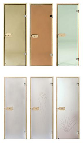 Стеклянные двери в бане