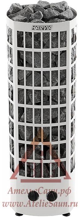 Электрическая печь Harvia Classic Quatro QR 90 V (белая, со встроенным пультом)