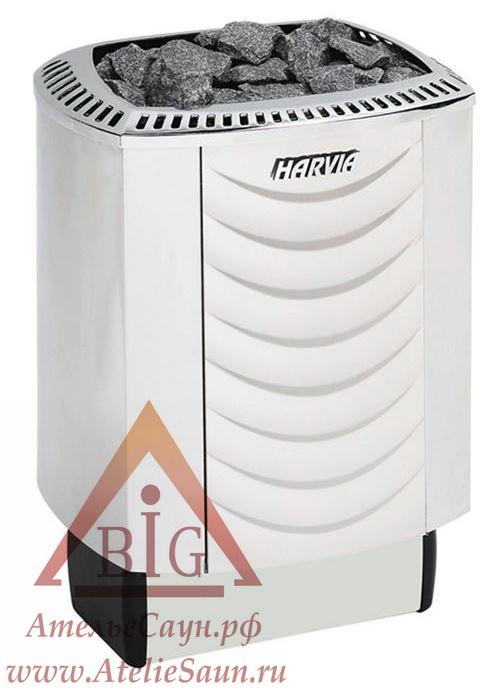 Электрическая печь Harvia Sound M 80 (белая, со встроенным пультом)