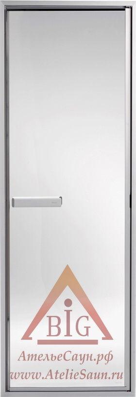 Дверь для сауны Tylo ALU LINE 50 G (635х1855 мм, прозрачная, скрытые петли, арт. 94989819)