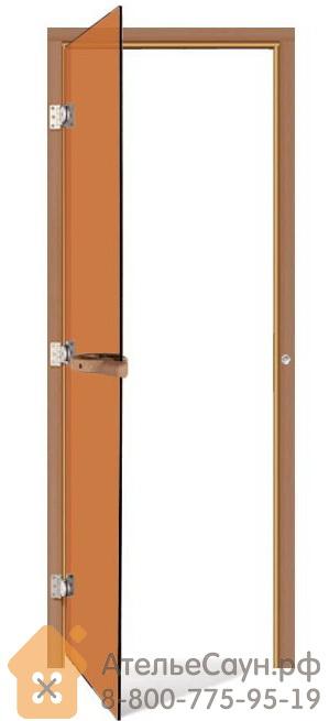 Дверь для бани Sawo 730-3SGDL (7х19, бронза, левая, без порога, кедр)