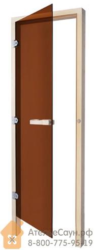 Дверь для сауны Sawo 730-3SGАL (7х19, бронза, левая, без порога, осина)
