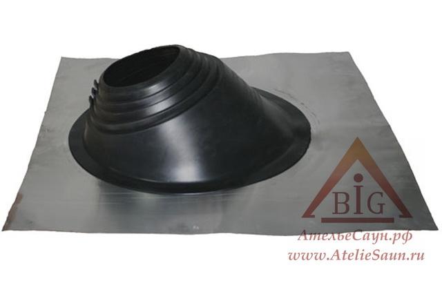 Уплотнитель кровельных проходов из силикона Master Flash В 203-280 угловой, чёрный