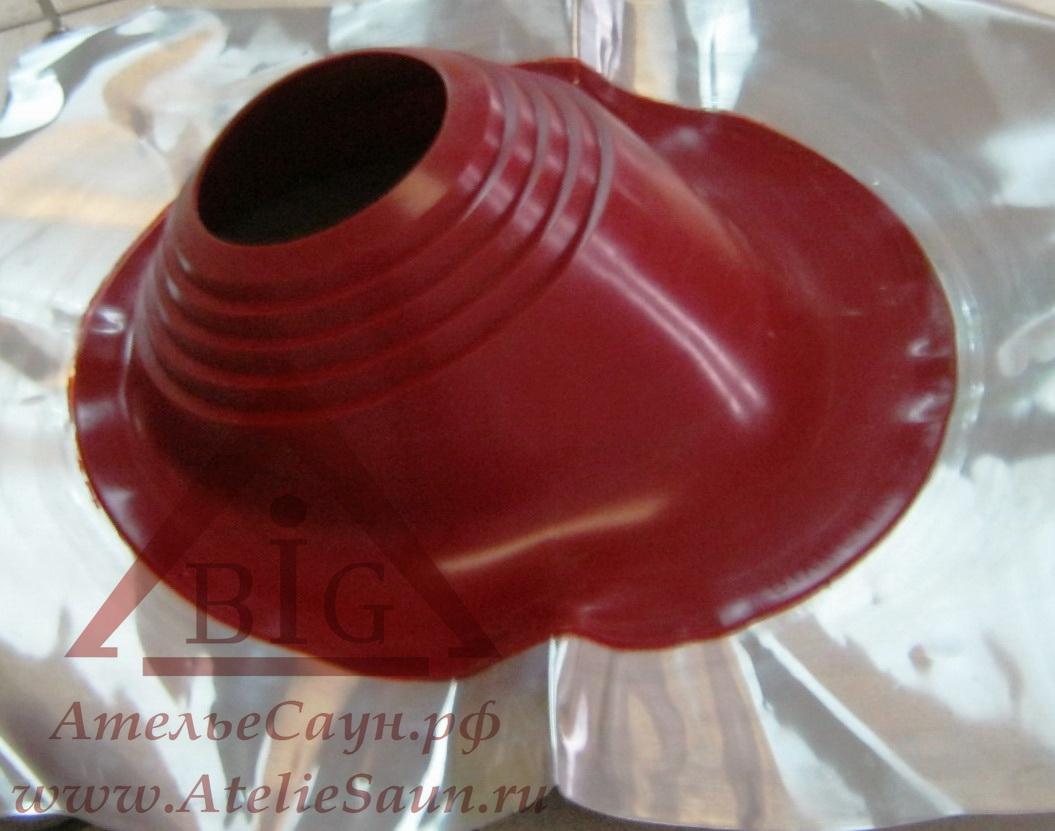 Уплотнитель кровельных проходов из силикона Master Flash В 203-280 угловой, красный