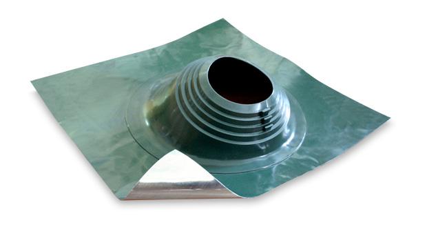 Уплотнитель кровельных проходов из силикона Master Flash В 203-280 угловой, зеленый