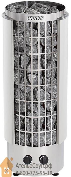 Печь для сауны Harvia Cilindro PC 70 VH (белая, со встроенным пультом, полуоткрытый кожух)