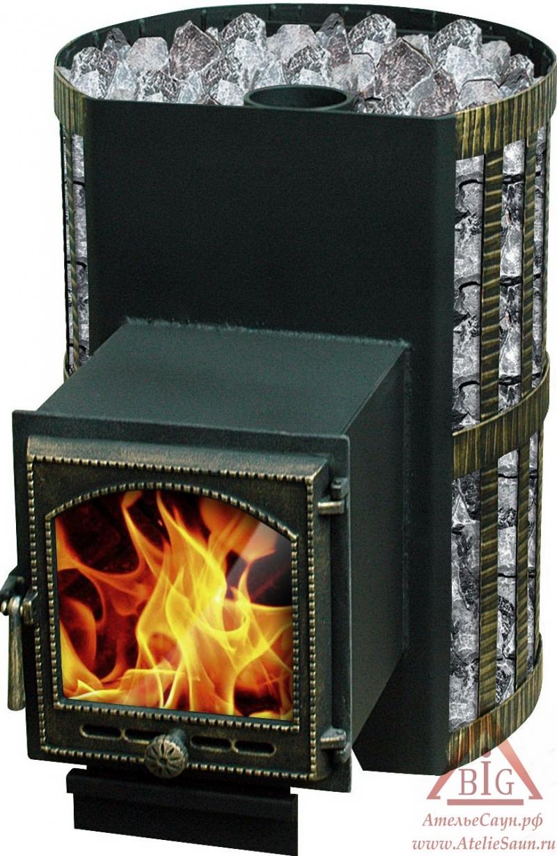 Печь для бани Везувий СКИФ 22 ВКТ (с теплообменником)