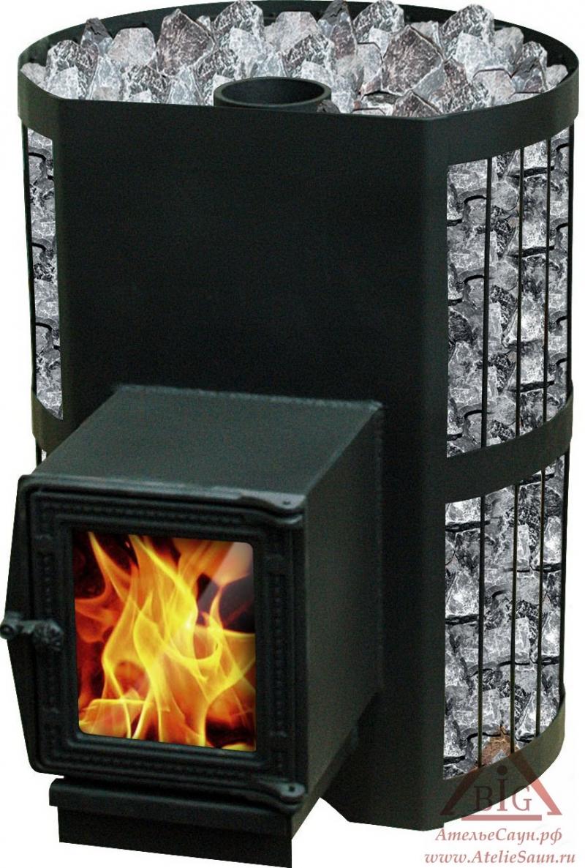 Печь для бани Везувий СКИФ 22 ВСТ (с теплообменником)