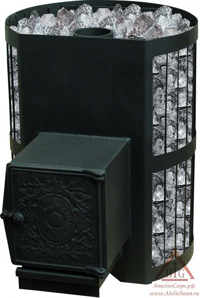 Печь для бани Везувий СКИФ 22 ВЧТ (с теплообменником)