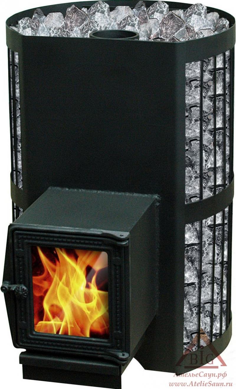 Дровяная печь Везувий СКИФ 28 ВСТ (с теплообменником)