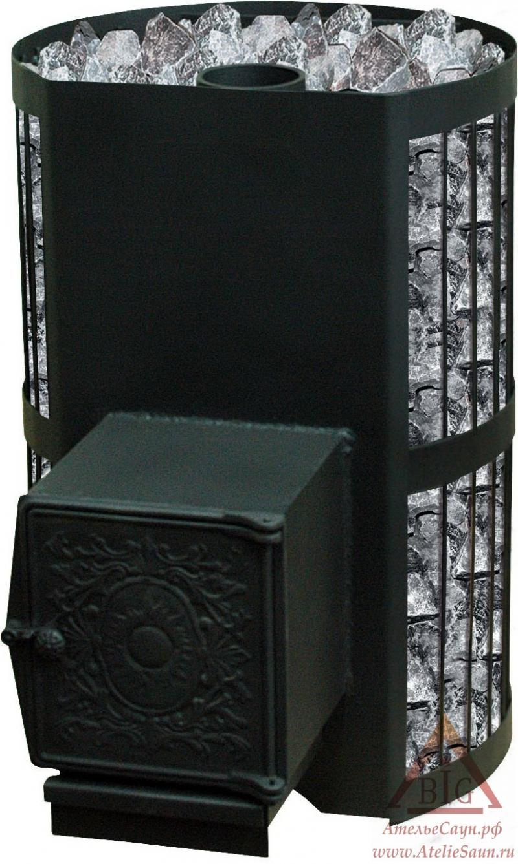 Дровяная печь Везувий СКИФ 28 ВЧТ (с теплообменником)