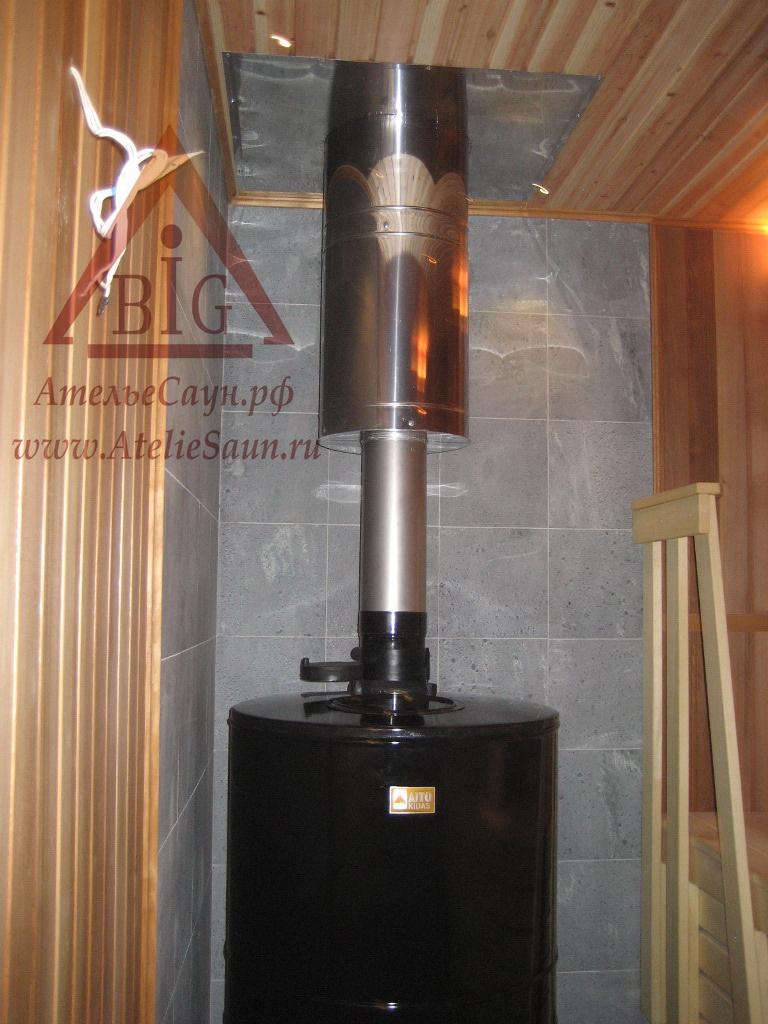 Печь для русской бани Aito AK 57 (с традиционными камнями Аито 120 кг, арт. 2220)