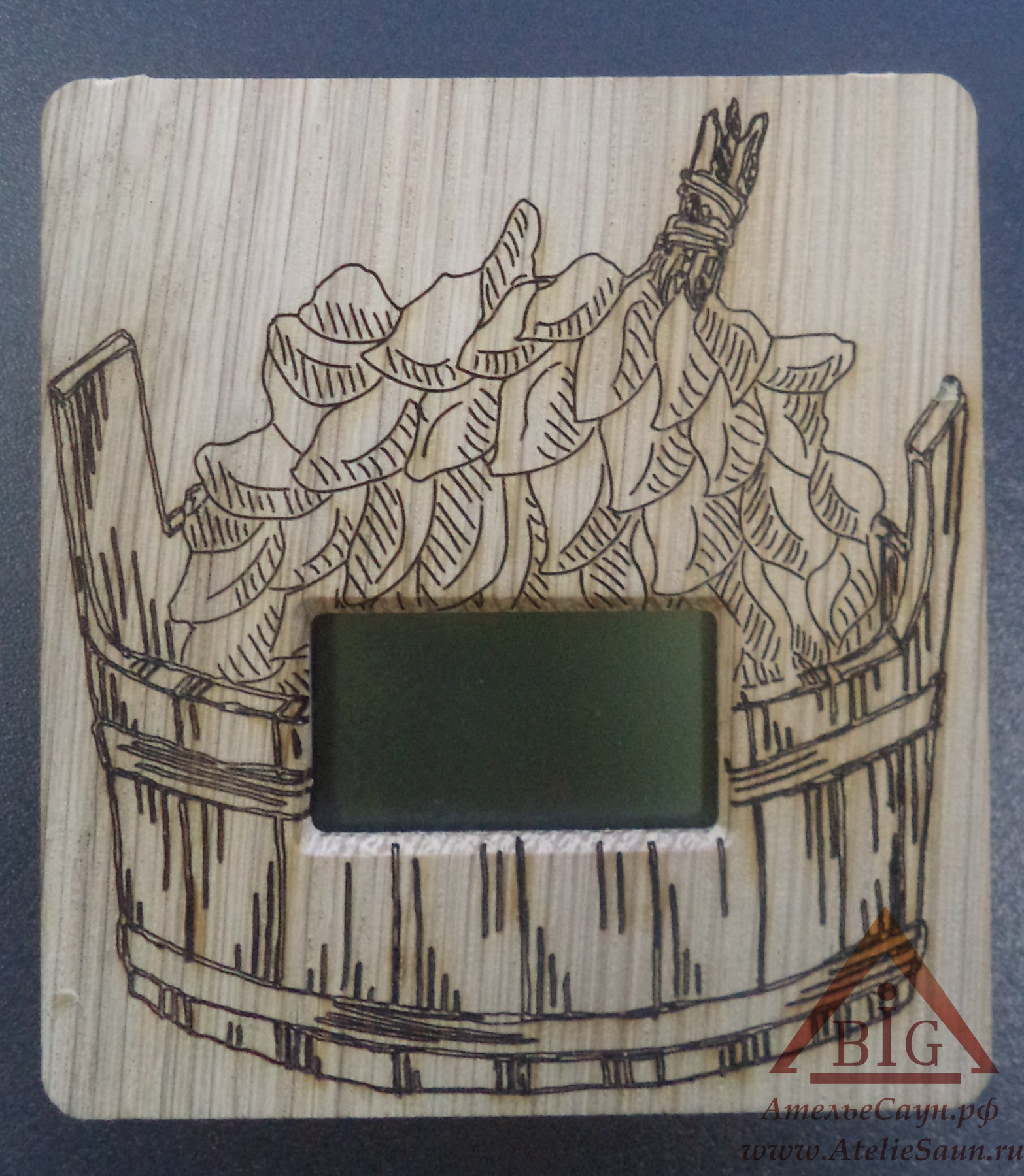 Выносной электрон. термометр для сауны ТЭС-ЛЮКС Шайка (датчик в парной, табло снаружи)