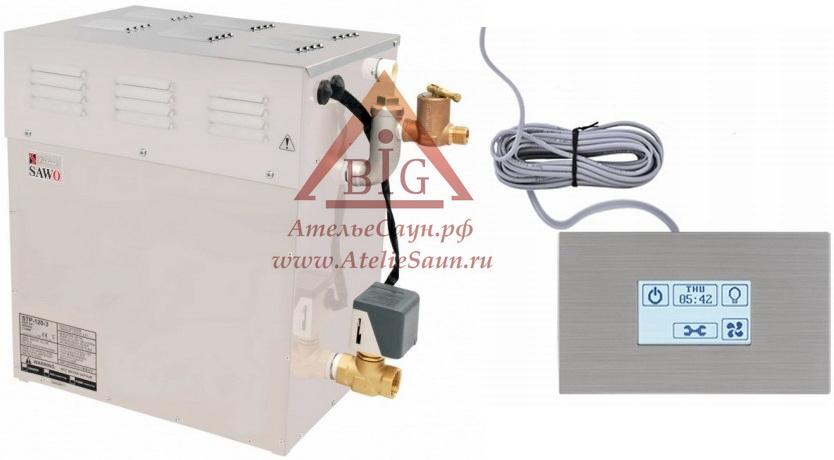 Парогенератор Sawo STP-120-3 SST-DFP (сенсорный пульт, автоочистка, 3 доп. функции)