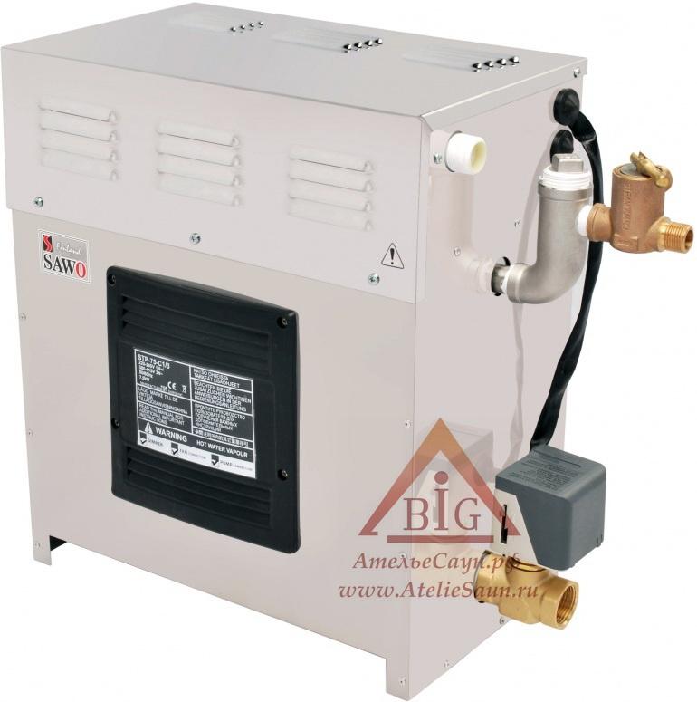 Парогенератор Sawo STP-60-C1/3 SST-DFP (сенсорный пульт, автоочистка, 3 доп. функции)
