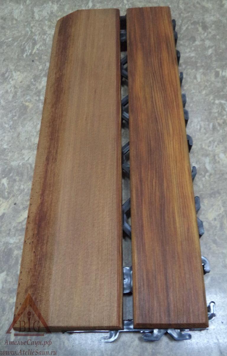 Коврик на пол Sawo 595-D-SID (кедр, боковой, 28х11.5 см, наборный, 2 шт.)