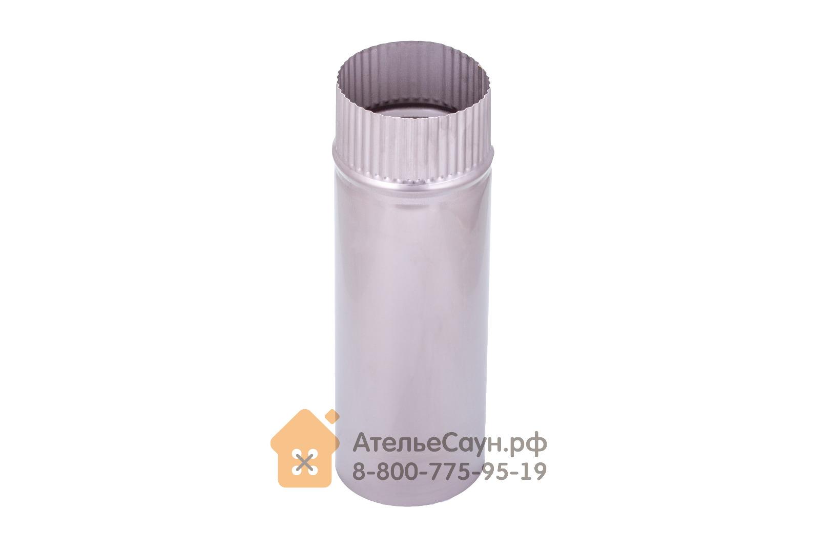 Труба голая D115 мм L = 0,35 м (нерж. 0,8 мм AISI 304)