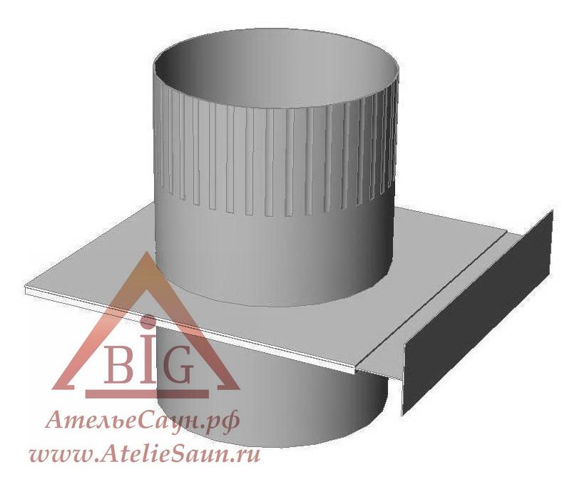 Шибер выдвижной D115 мм (нерж. 0,8 мм AISI 304)