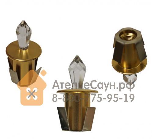 Набор Cariitti Crystal Led 9 Kit (1532128, золото, 9 хрустальных светильников, холодный свет)
