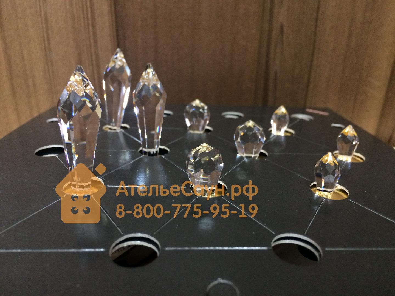 Набор Cariitti Crystal Led 9 Kit (1532129, золото, 9 хрустальных светильников, теплый свет)