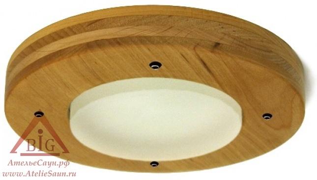 Светильник для турецкой парной Cariitti Kuu (1545839, IP67, деревянная оправа, мат. стекло)