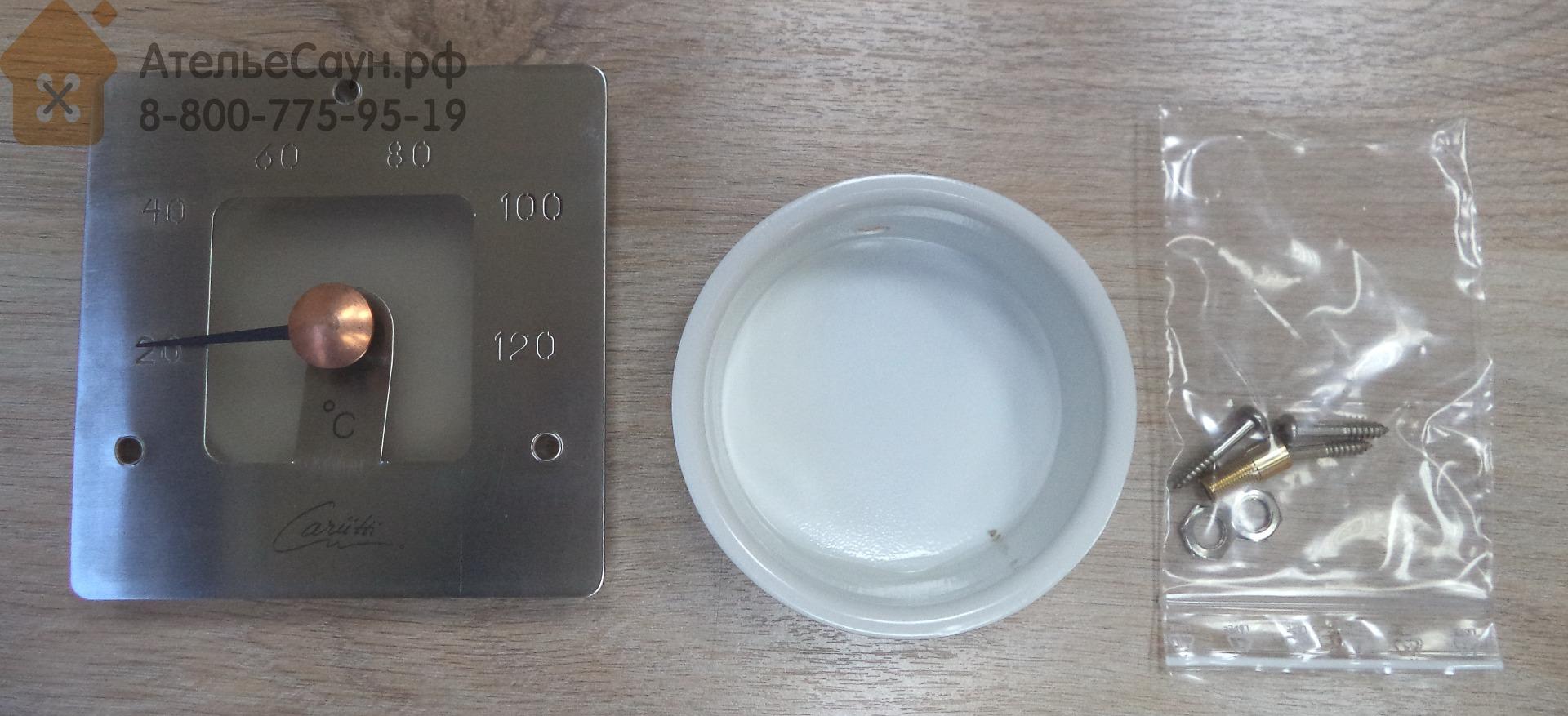 Термометр для сауны Cariitti SQ (1545828, нерж. сталь, требуется 1 оптоволокно D=2-4 мм)