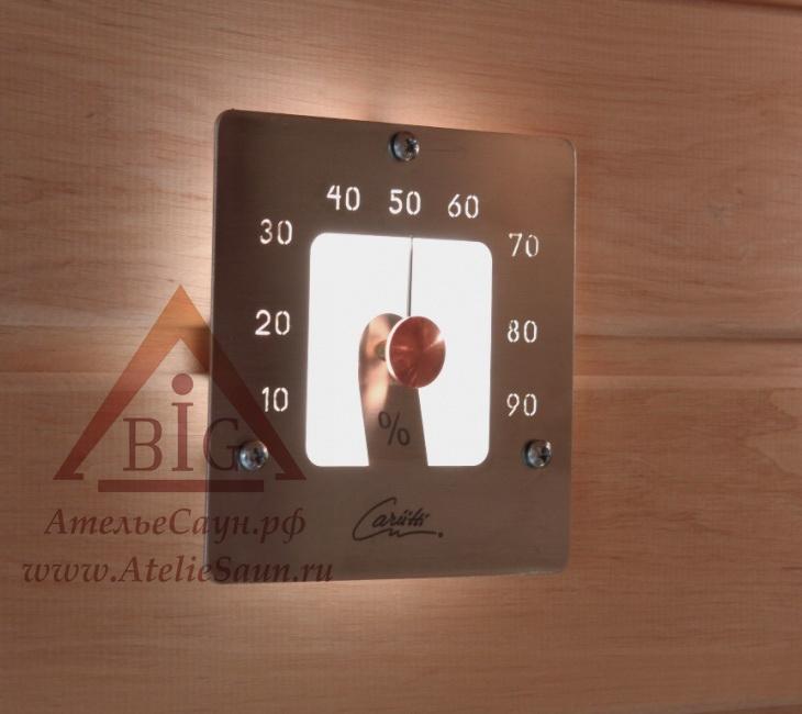 Гигрометр для сауны Cariitti SQ (1545849, нерж. сталь, требуется 1 оптоволокно D=2-4 мм)