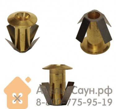 Монтажная втулка Cariitti CR-01 (1540048, золото, D монтаж. отв. = 10 мм, D наружный = 13 мм)