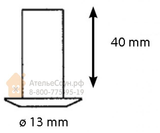 Монтажная втулка Cariitti CR-01 (1540049, хром, D монтаж. отв. = 10 мм, D наружный = 13 мм)