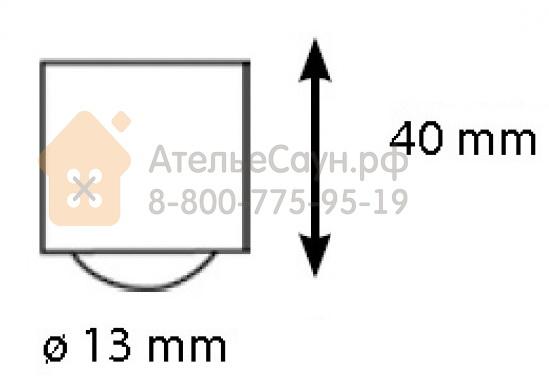 Линза Cariitti CR-09 (1540083, хром, резьба М5, для волокна D=1-3 мм)