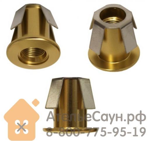 Монтажная втулка Cariitti CR-02 (1540051, золото, D монтаж. отв. = 14 мм, D внешний = 18 мм)