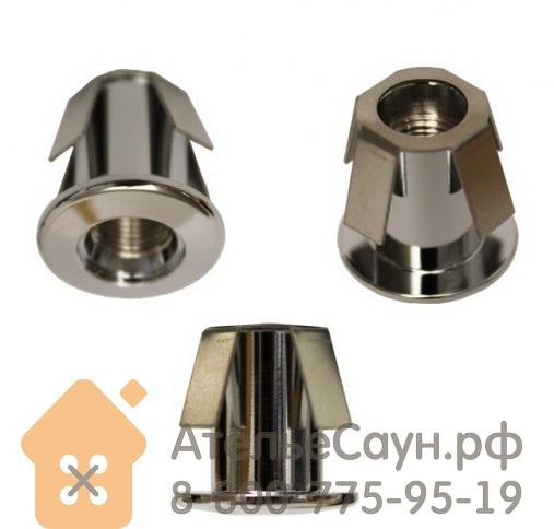 Монтажная втулка Cariitti CR-02 (1540052, хром, D монтаж. отв. = 14 мм, D внешний = 18 мм)