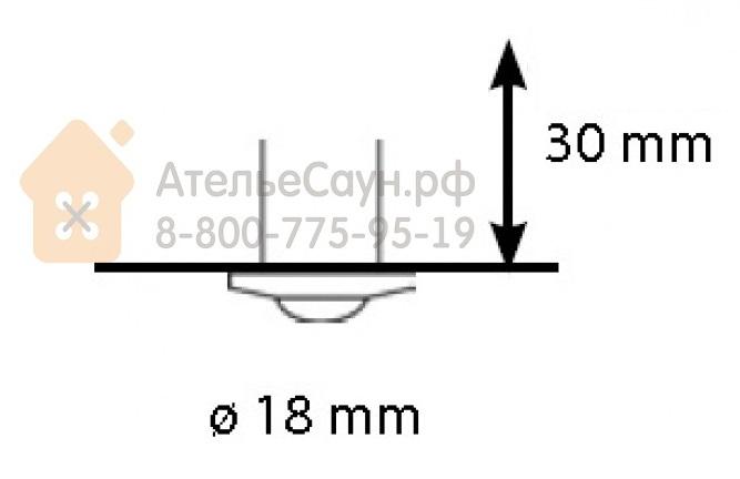 Линза Cariitti CR-05 (1540101, хром, линза матовая, D внешний = 18 мм)