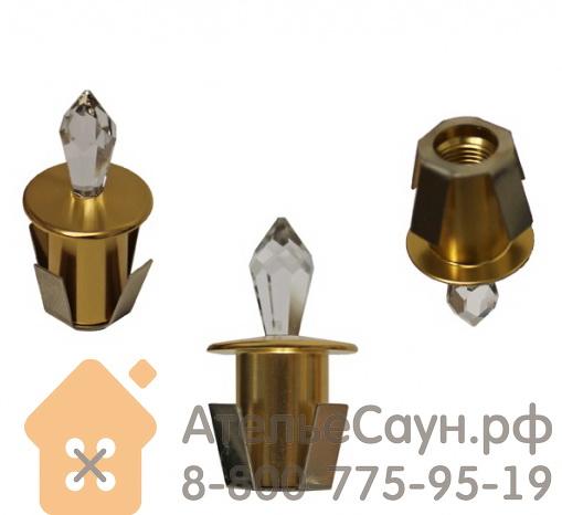 Хрустальная насадка Cariitti CR-12 (1540059, золото, длина кристалла - 12 мм)