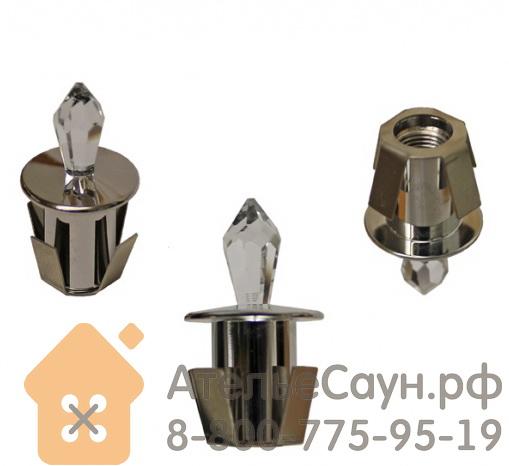 Хрустальная насадка Cariitti CR-12 (1540060, хром, длина кристалла - 12 мм)