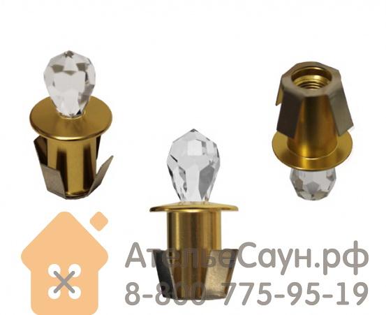 Хрустальная насадка Cariitti CR-16 (1540061, золото, длина кристалла - 16 мм)