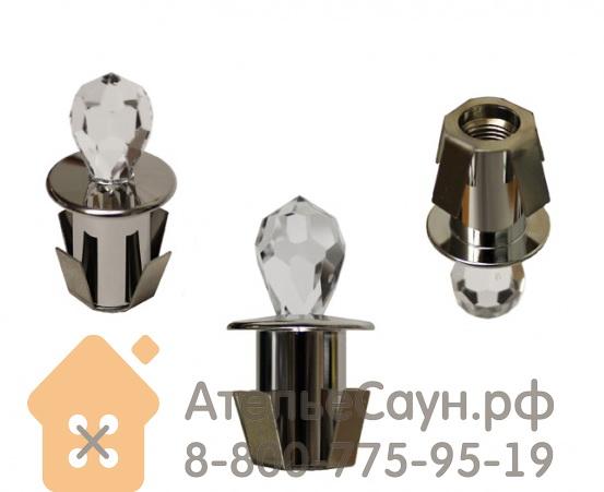 Хрустальная насадка Cariitti CR-16 (1540062, хром, длина кристалла - 16 мм)