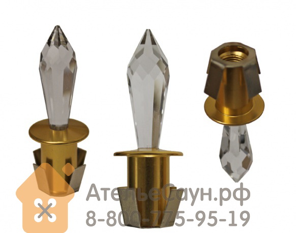 Хрустальная насадка Cariitti CR-31 (1540063, золото, длина кристалла - 31 мм)