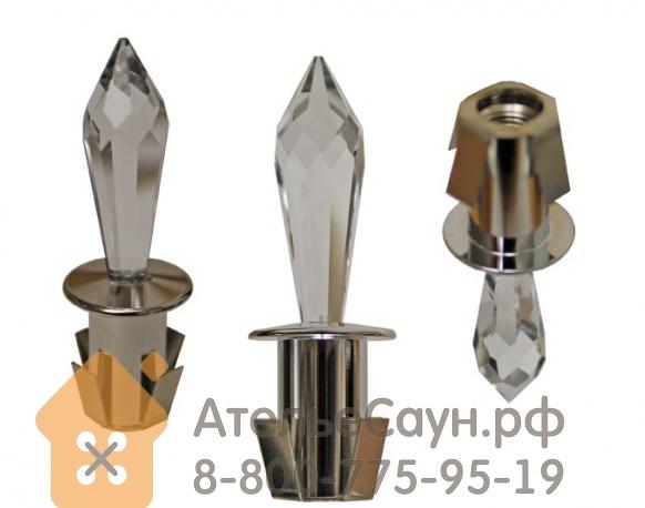 Хрустальная насадка Cariitti CR-31 (1540064, хром, длина кристалла - 31 мм)