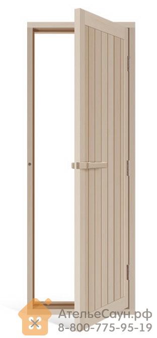 Дверь для сауны Sawo 734-4SA (700х2040 мм, деревянная глухая, с порогом, осина)