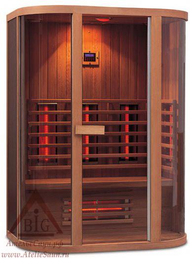 Инфракрасная сауна KOY R04-K71 (2-местная, красный канадский кедр, 150х100х198 см)