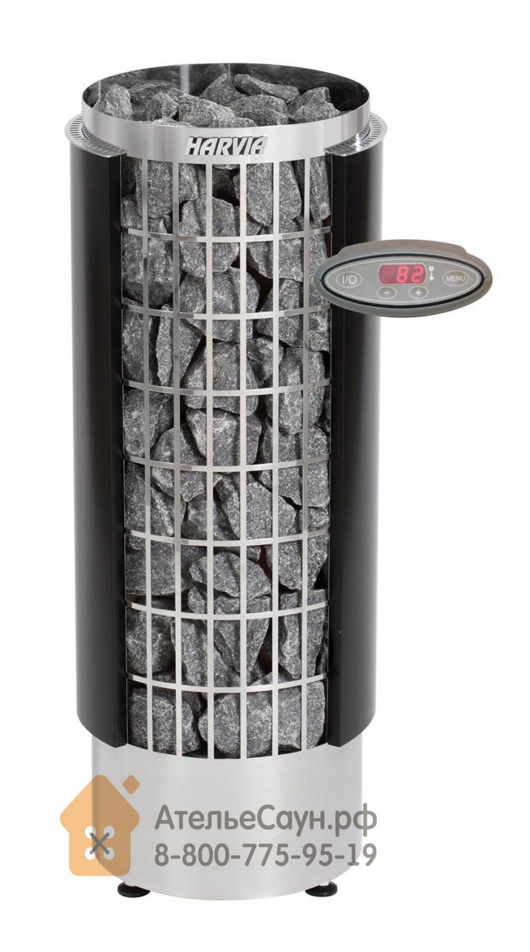 Электрическая печь Harvia Cilindro PC 70 HEE (с выносным пультом, полуоткрытый кожух)