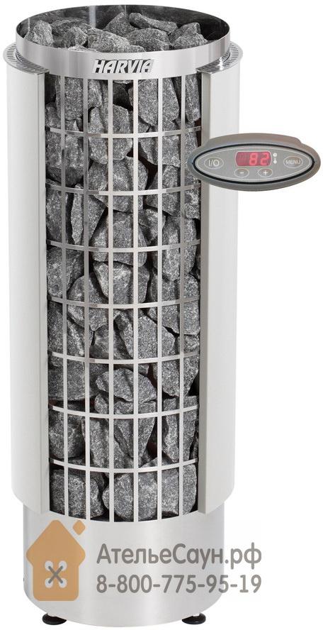 Электрическая печь Harvia Cilindro PC 70 VHEE (белая, с выносным пультом)