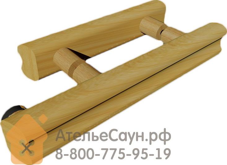 Дверь для бани АКМА Арт с Гравировкой МЕАНДР 7х19 (8 мм, коробка липа)