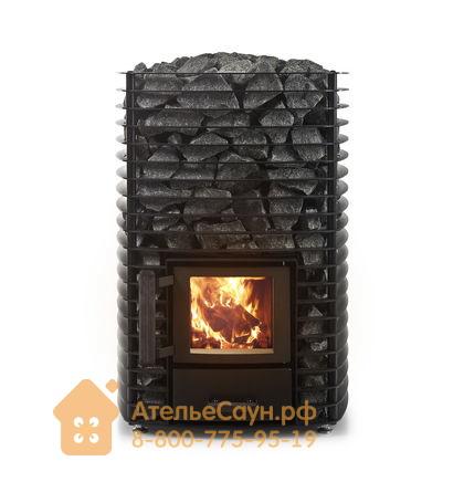 Дровяная печь Narvi Velvet 20 Black (сетка, арт. 102415)