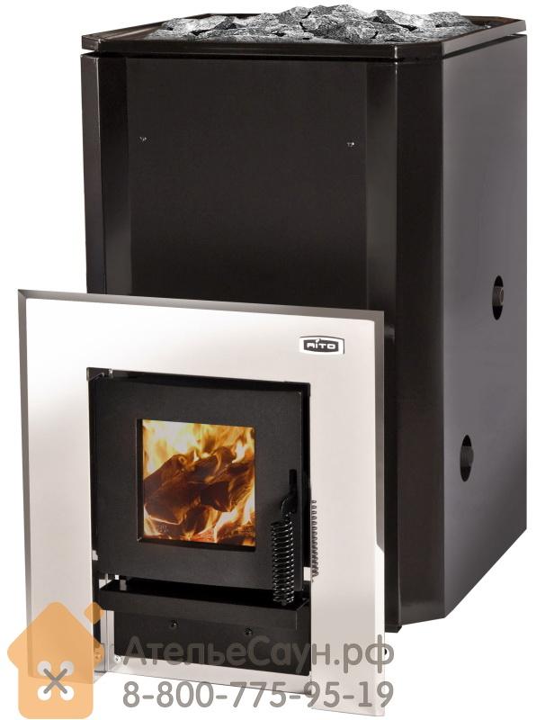 Дровяная печь для бани Aito 20 ST Tunnel Boiler R (выносная топка, теплообменник справа, арт. 2164)