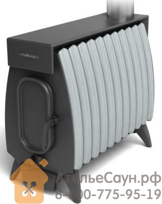 Отопительная печь Термофор ОГОНЬ-БАТАРЕЯ 11 ЛАЙТ (антрацит-серый металлик)