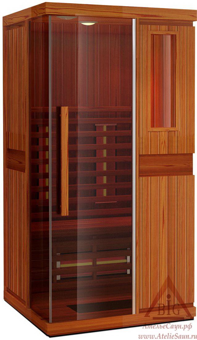 Инфракрасная сауна KOY JK-R2102 (1-местная, красный канадский кедр, 110х105х195 см)