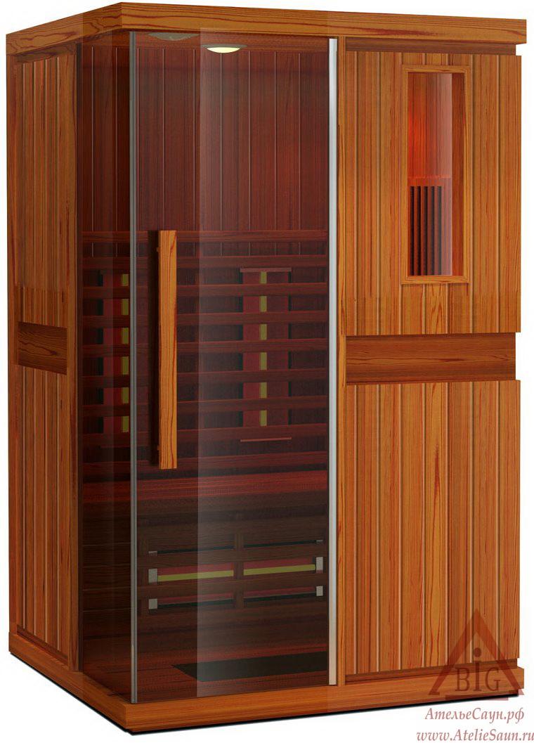 Инфракрасная сауна KOY JK-R2202 (2-местная,  красный канадский кедр, 130х110х195 см)