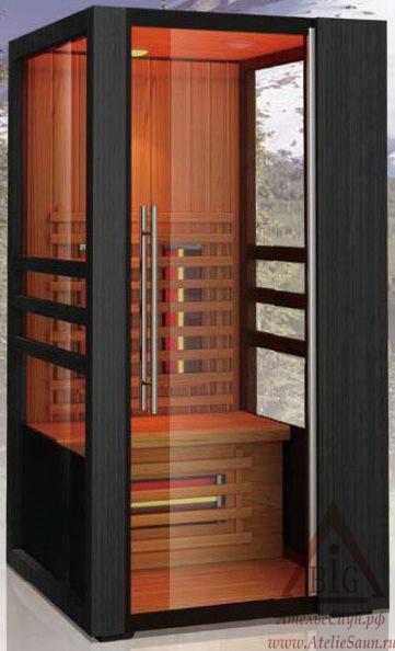 Инфракрасная сауна KOY JK-R8101 (1-местная,  красный канадский кедр, 100х105х195 см)